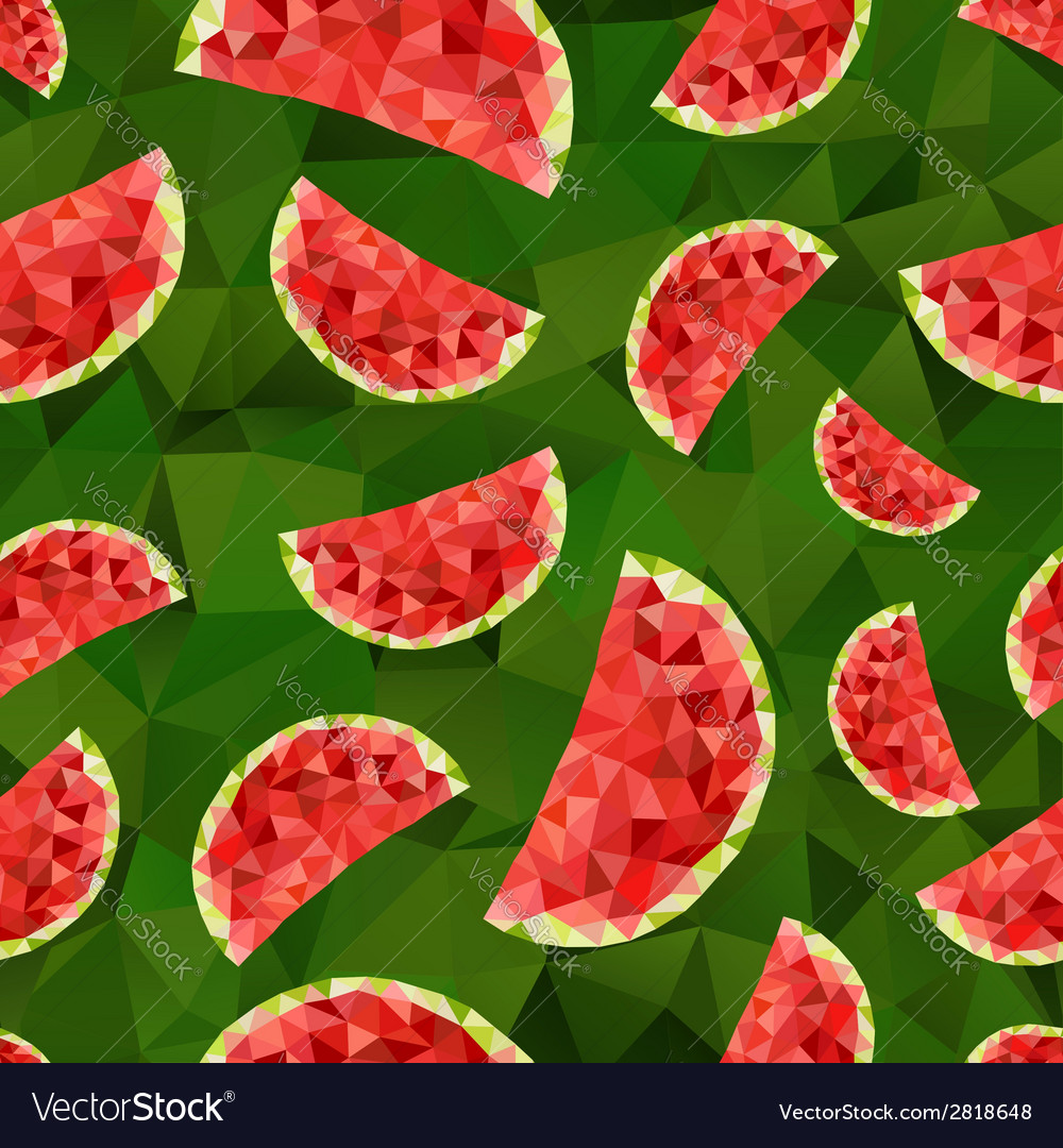 Triangle watermelon abstract seamless pattern vector | Price: 1 Credit (USD $1)