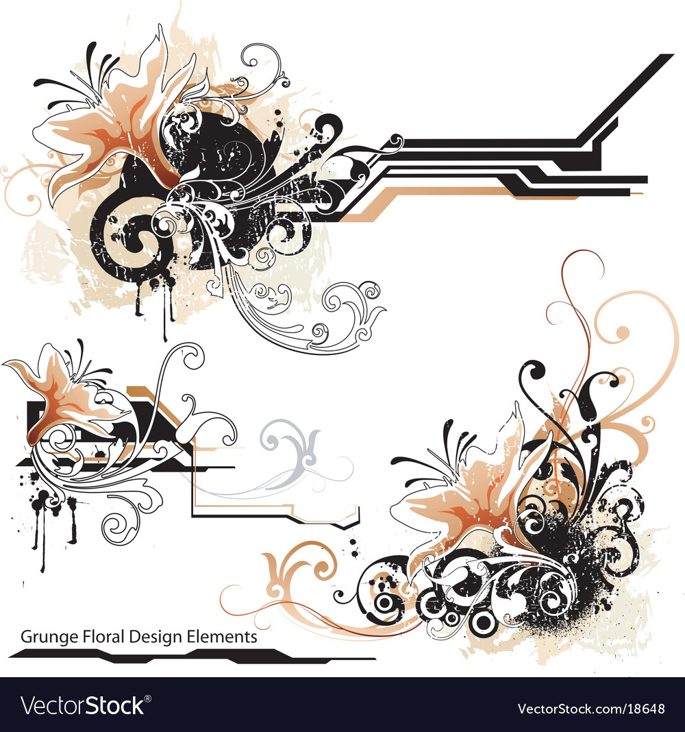 Urban grunge design elements vector | Price: 1 Credit (USD $1)