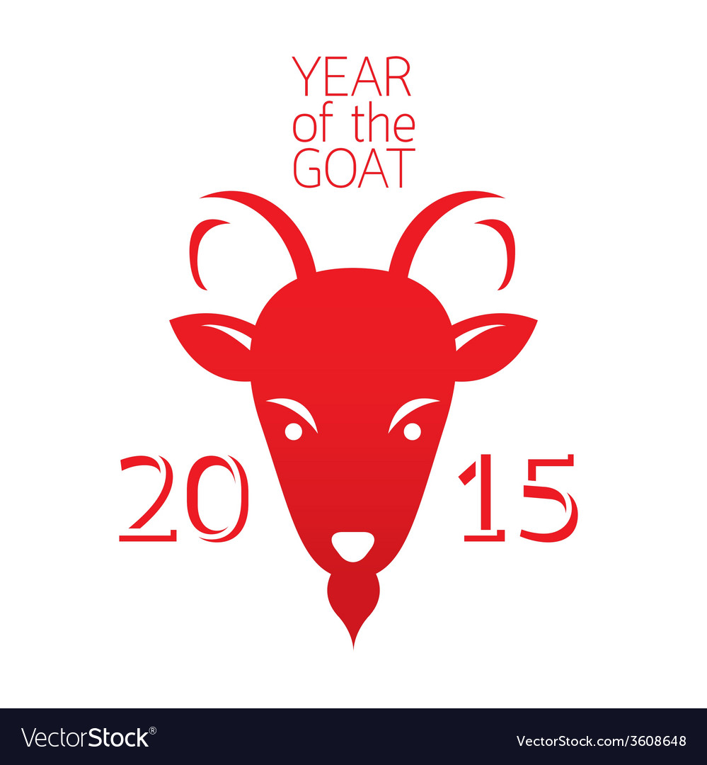 Year of goat 2015 vector | Price: 1 Credit (USD $1)