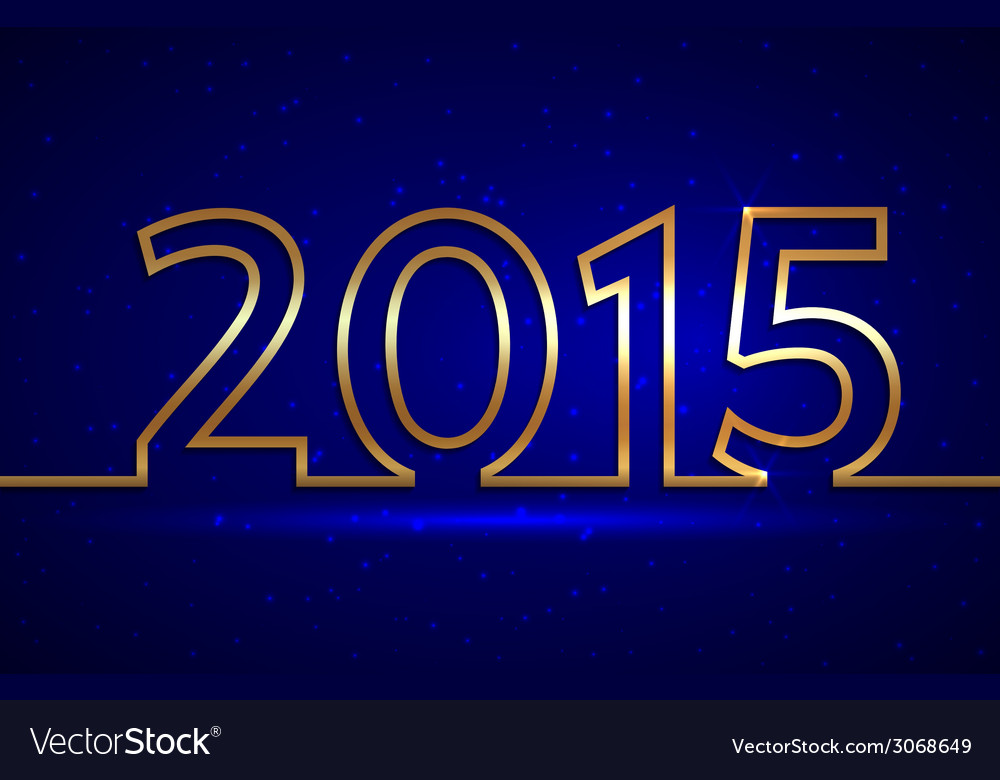 2015 new year greeting billboard with golden wire vector | Price: 1 Credit (USD $1)