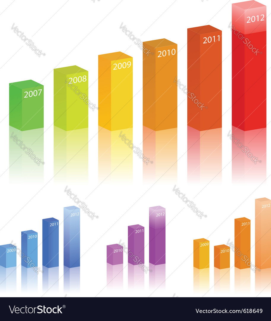 Bar graphs vector | Price: 1 Credit (USD $1)