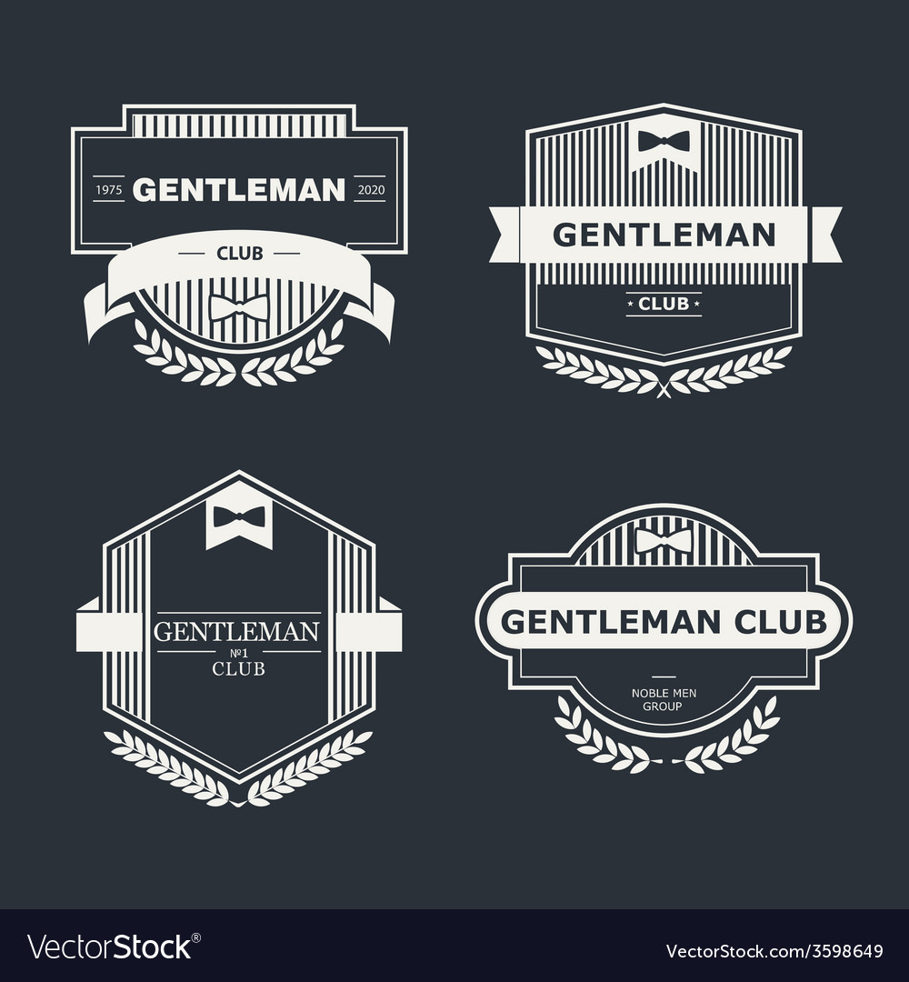 Gentleman club vector | Price: 1 Credit (USD $1)