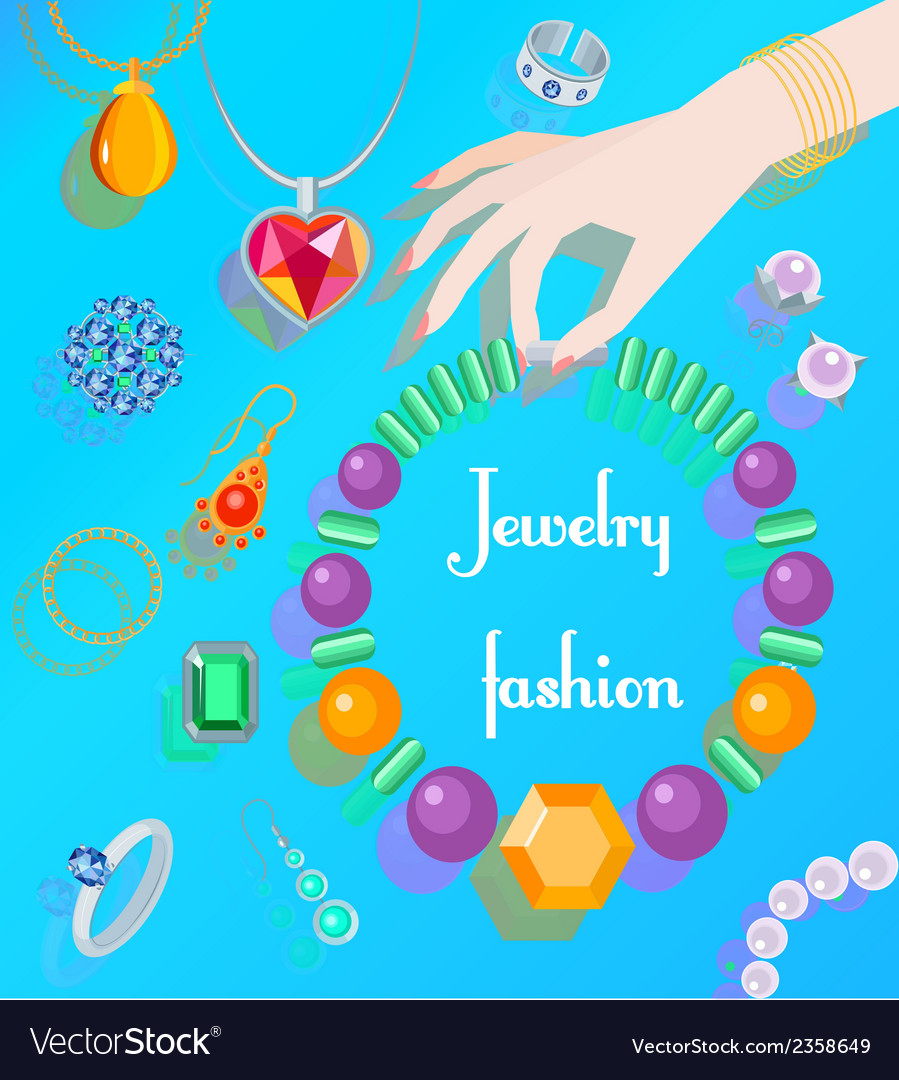 Jewelry fashion poster vector | Price: 1 Credit (USD $1)