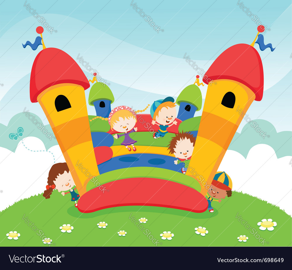 Jumping castle vector | Price: 3 Credit (USD $3)