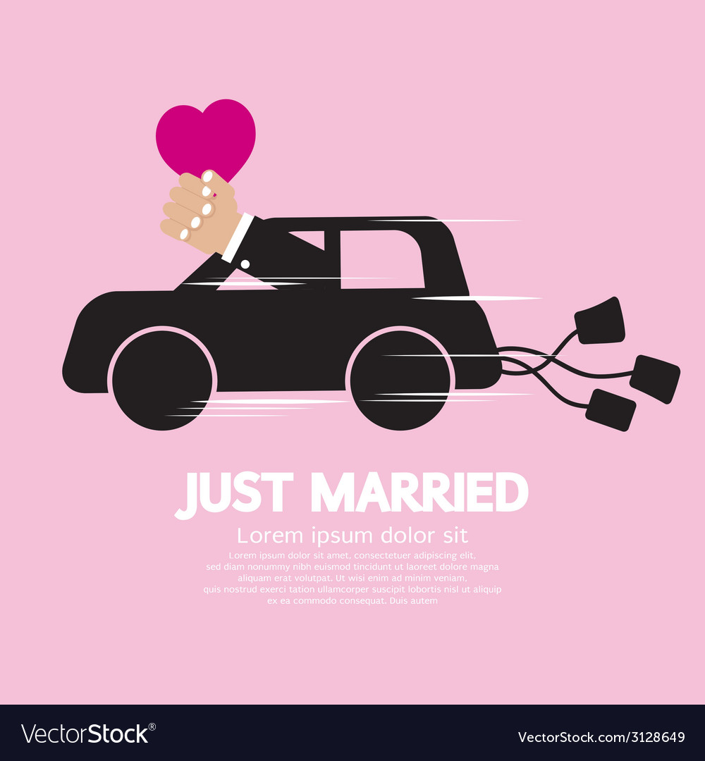 Just married concept vector | Price: 1 Credit (USD $1)