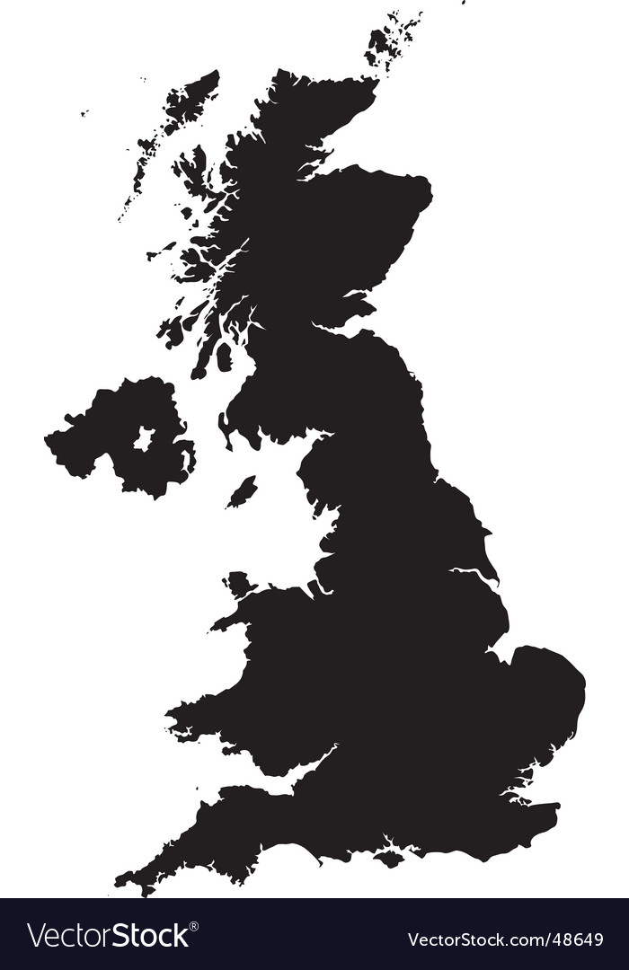 Map of britain vector | Price: 1 Credit (USD $1)