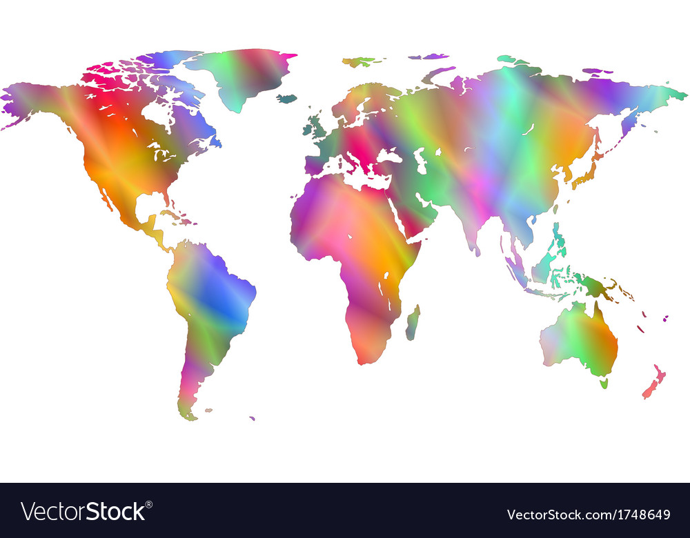 Motley world map vector | Price: 1 Credit (USD $1)