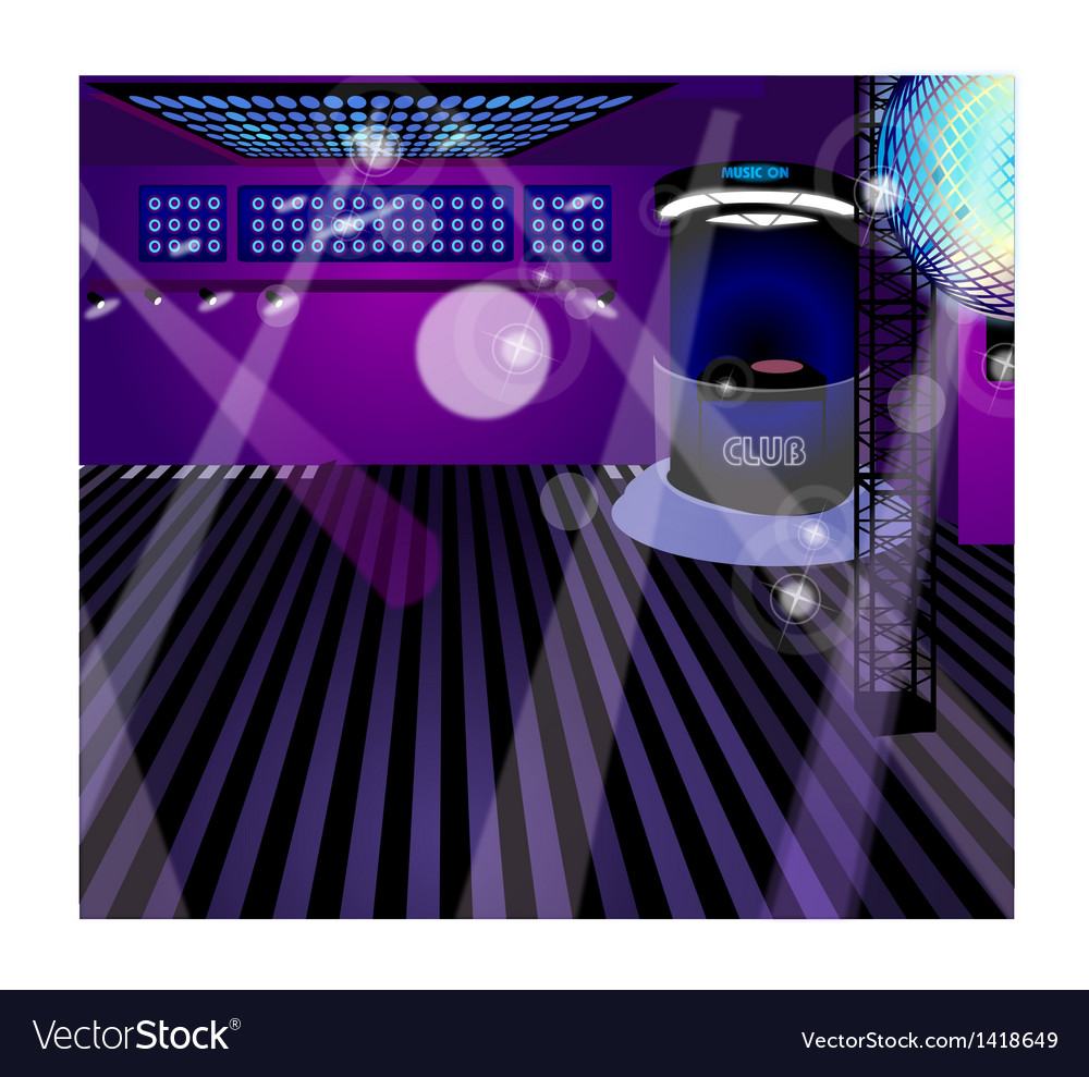 Night club interior vector | Price: 1 Credit (USD $1)