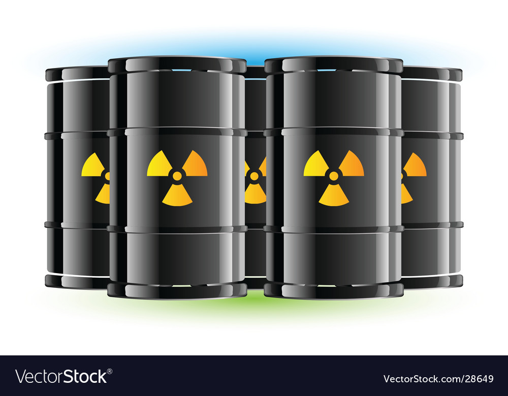 Radiation sign barrels vector | Price: 1 Credit (USD $1)