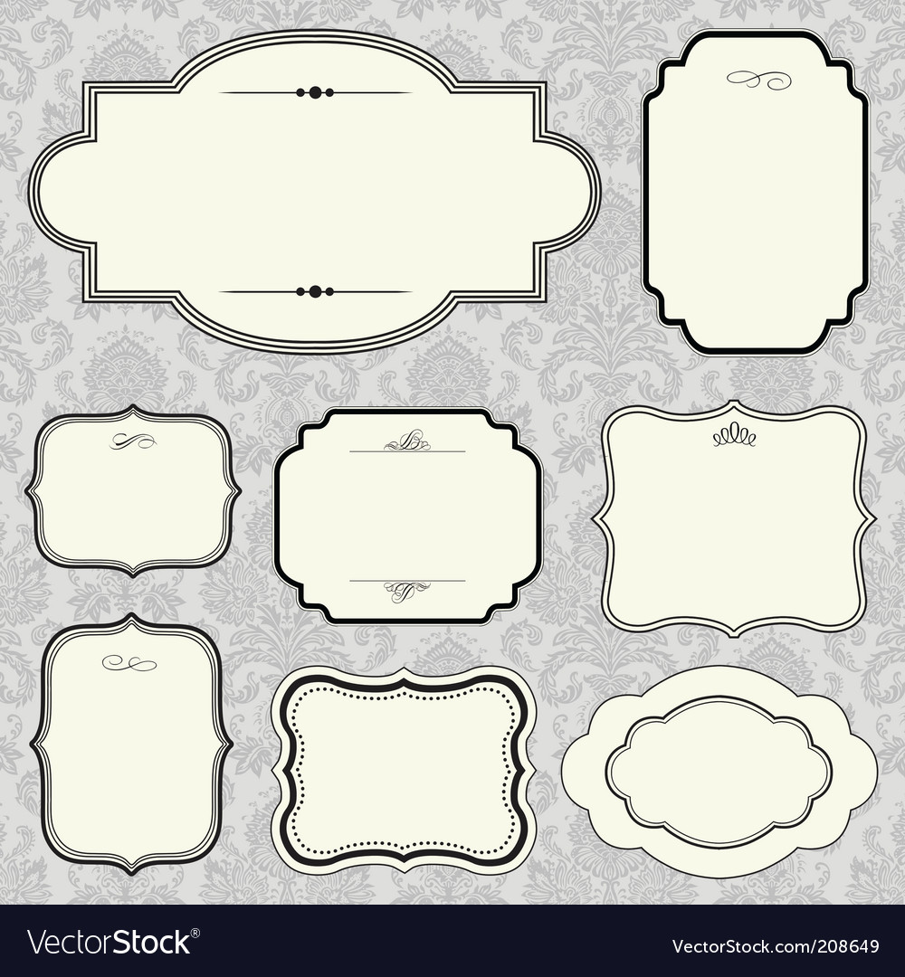 Rounded frame set and pattern vector | Price: 1 Credit (USD $1)