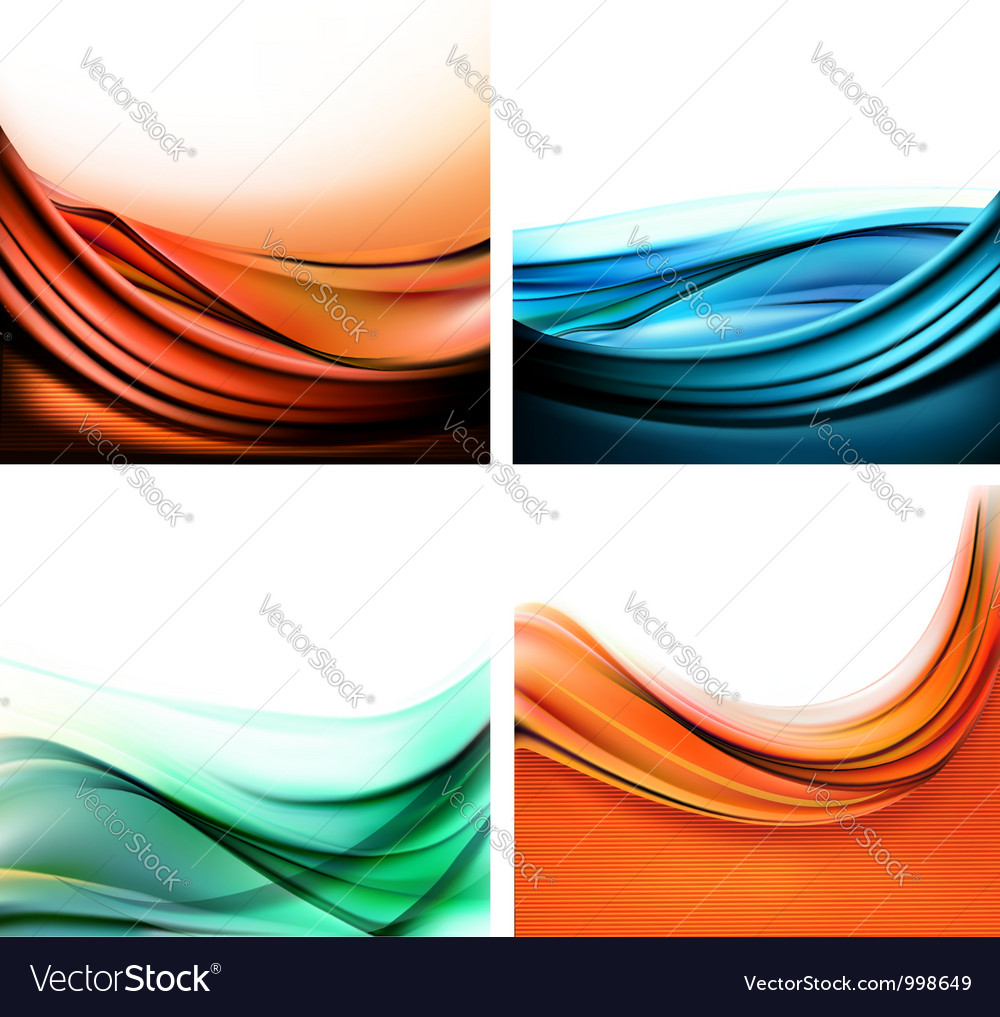 Set of colorful elegant abstract backgrounds vector | Price: 1 Credit (USD $1)