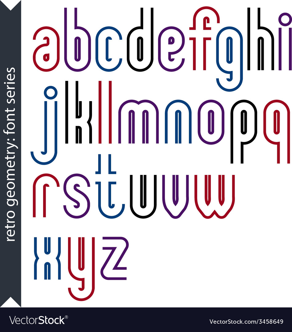 Stylish lowercase letters set with straight vector   Price: 1 Credit (USD $1)