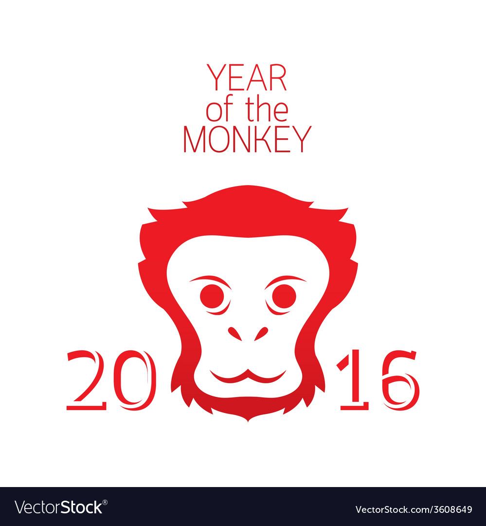 Year of monkey 2016 vector | Price: 1 Credit (USD $1)