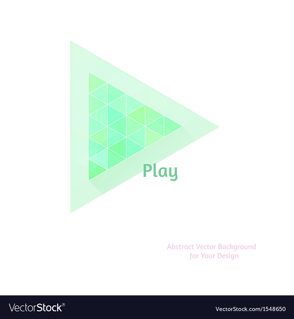 Abstract background with play button stylized flat vector | Price: 1 Credit (USD $1)