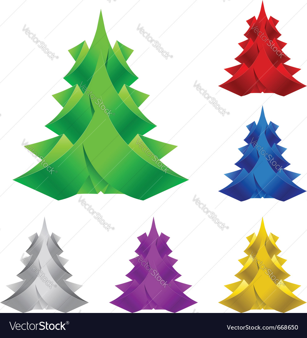 Abstract paper christmas tree vector | Price: 1 Credit (USD $1)