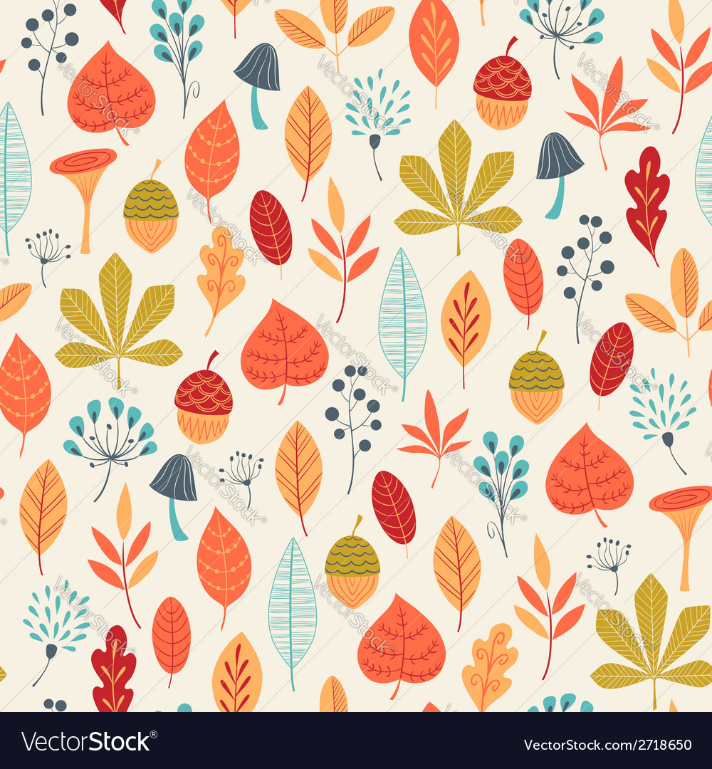 Autumn colors pattern vector | Price: 1 Credit (USD $1)
