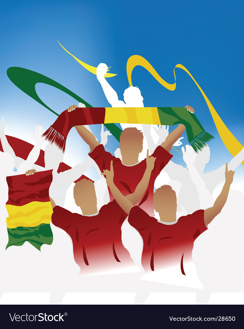 Guinean crowd vector | Price: 1 Credit (USD $1)