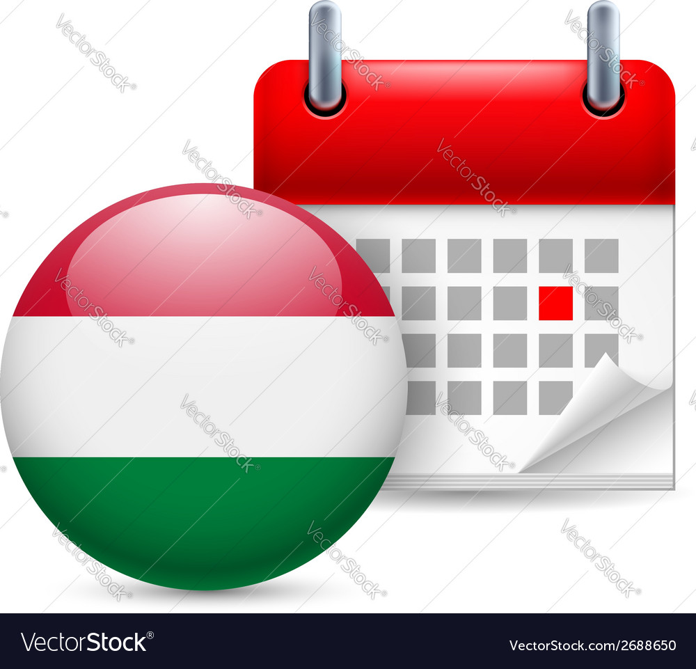 Icon of national day in hungary vector | Price: 1 Credit (USD $1)