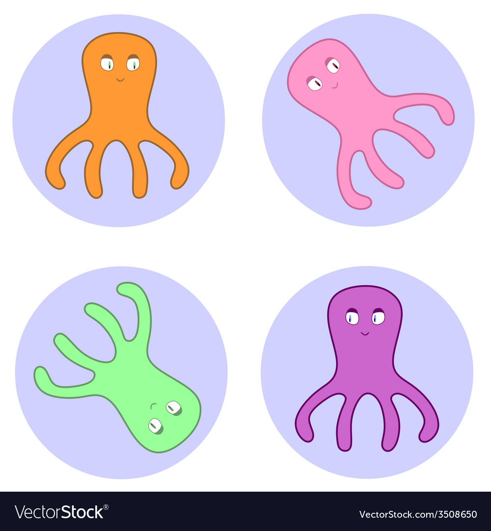 Octopuses in circles vector   Price: 1 Credit (USD $1)