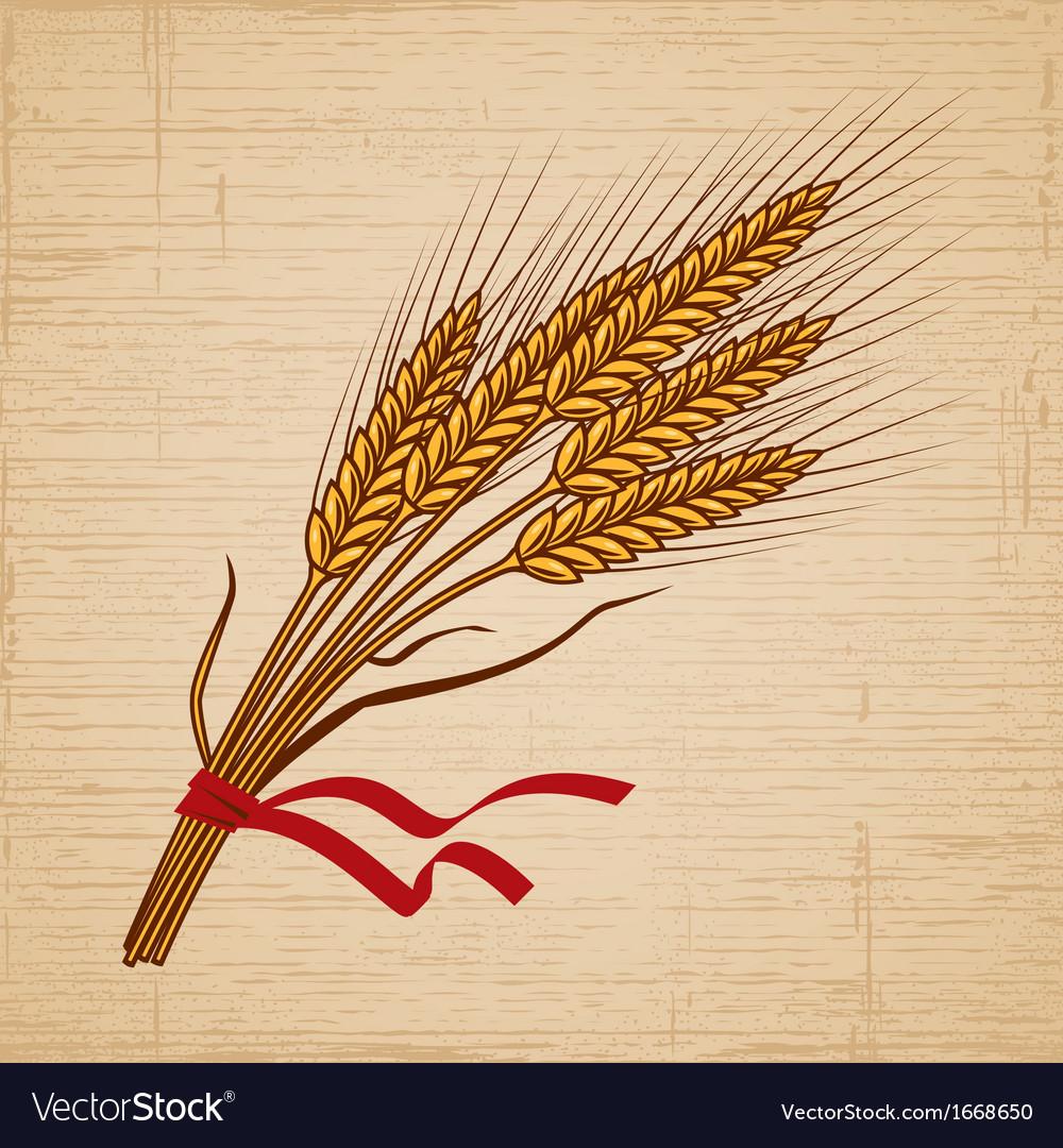 Retro wheat vector | Price: 1 Credit (USD $1)