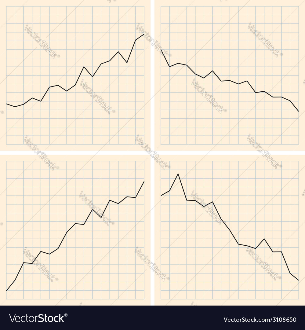 Set of graphs vector | Price: 1 Credit (USD $1)