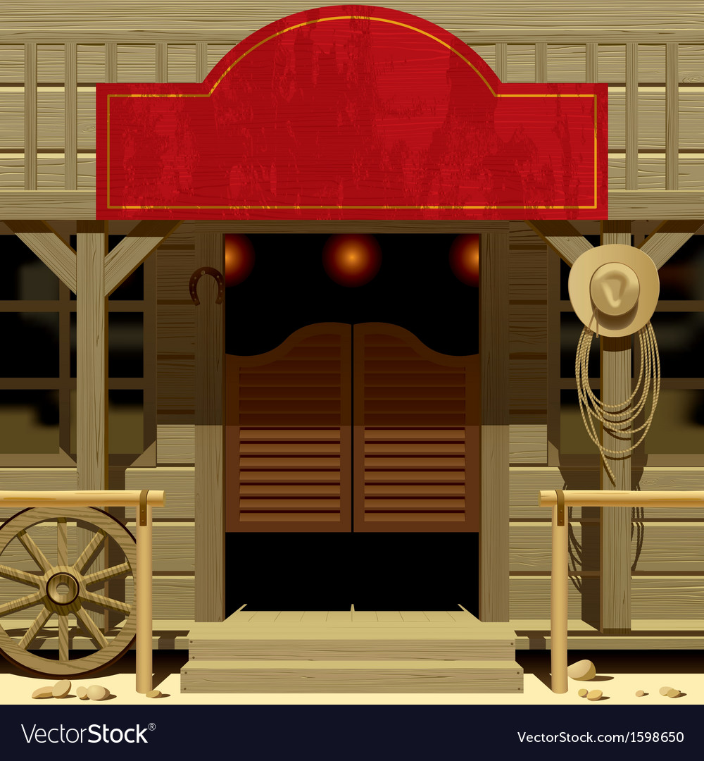Wild west saloon vector | Price: 3 Credit (USD $3)