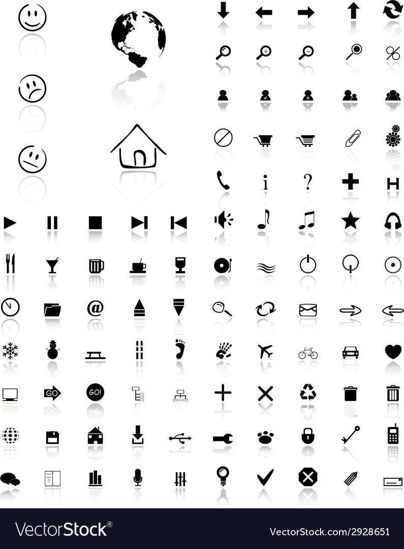 100 glossy web icons vector | Price: 1 Credit (USD $1)