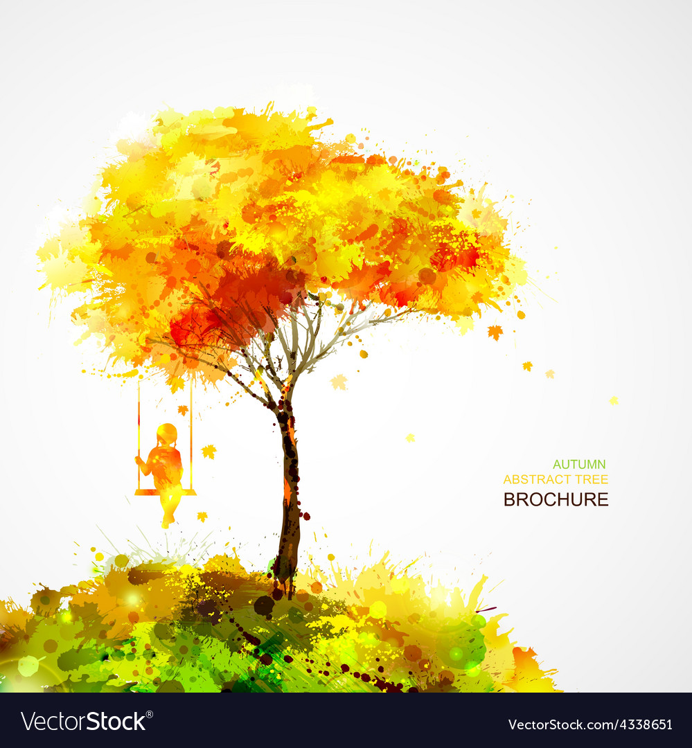 Abstract autumn background design vector | Price: 1 Credit (USD $1)