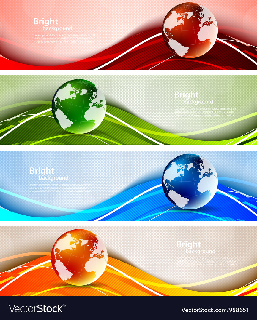 Background with globes vector | Price: 1 Credit (USD $1)