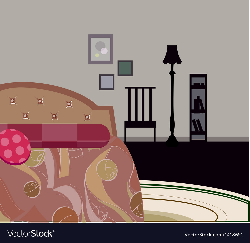 Bedroom background vector | Price: 1 Credit (USD $1)