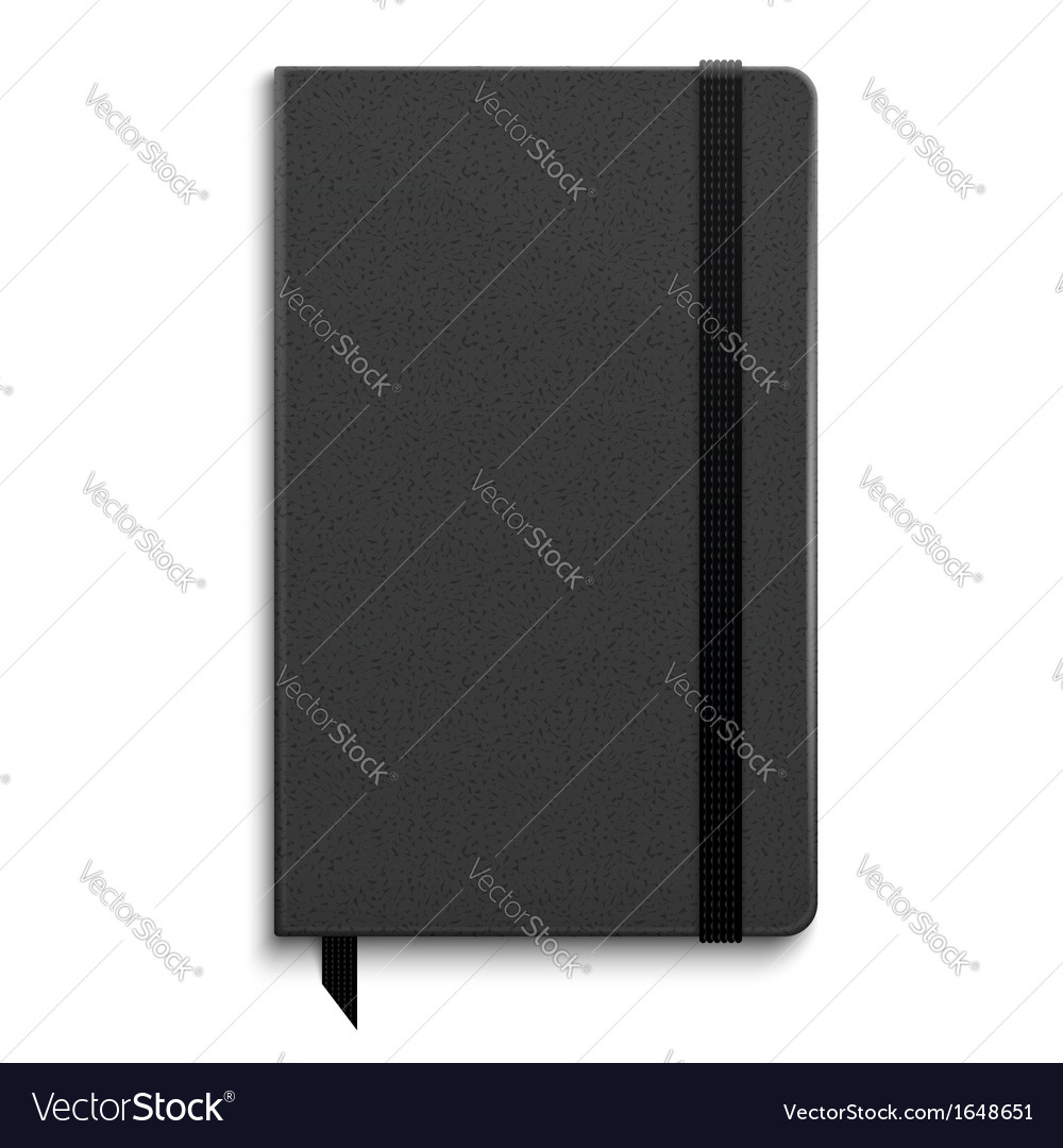 Black copybook with elastic band vector | Price: 1 Credit (USD $1)