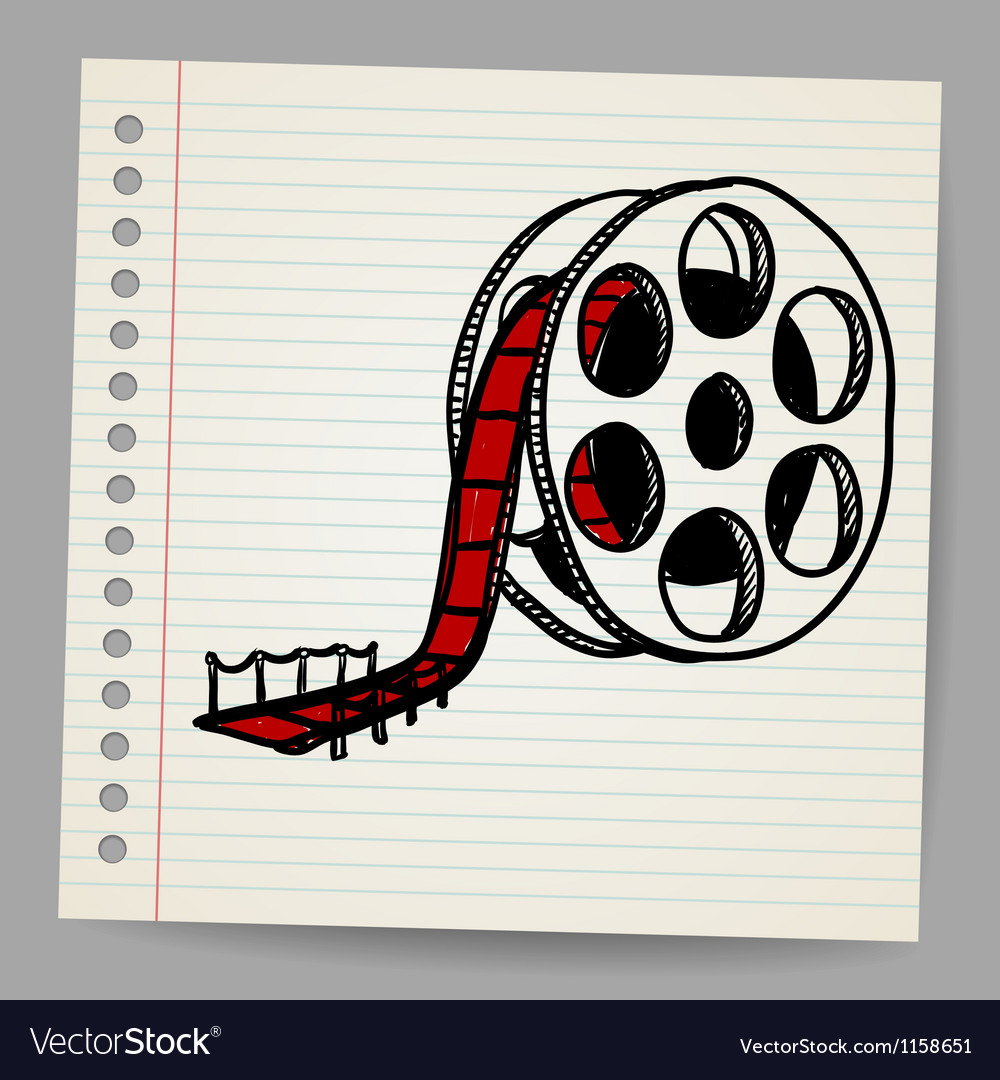 Cinema film roll and red carpet vector | Price: 1 Credit (USD $1)