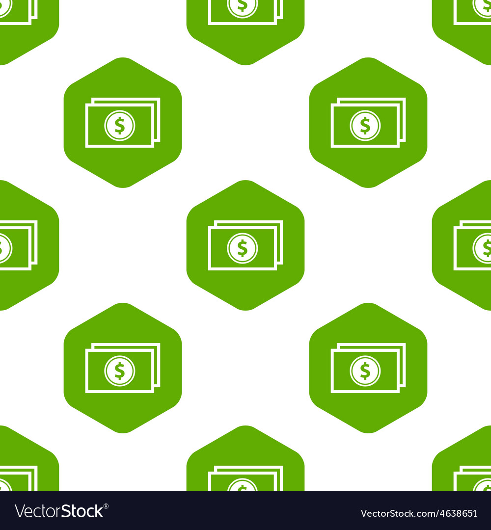 Dollar banknote pattern vector | Price: 1 Credit (USD $1)