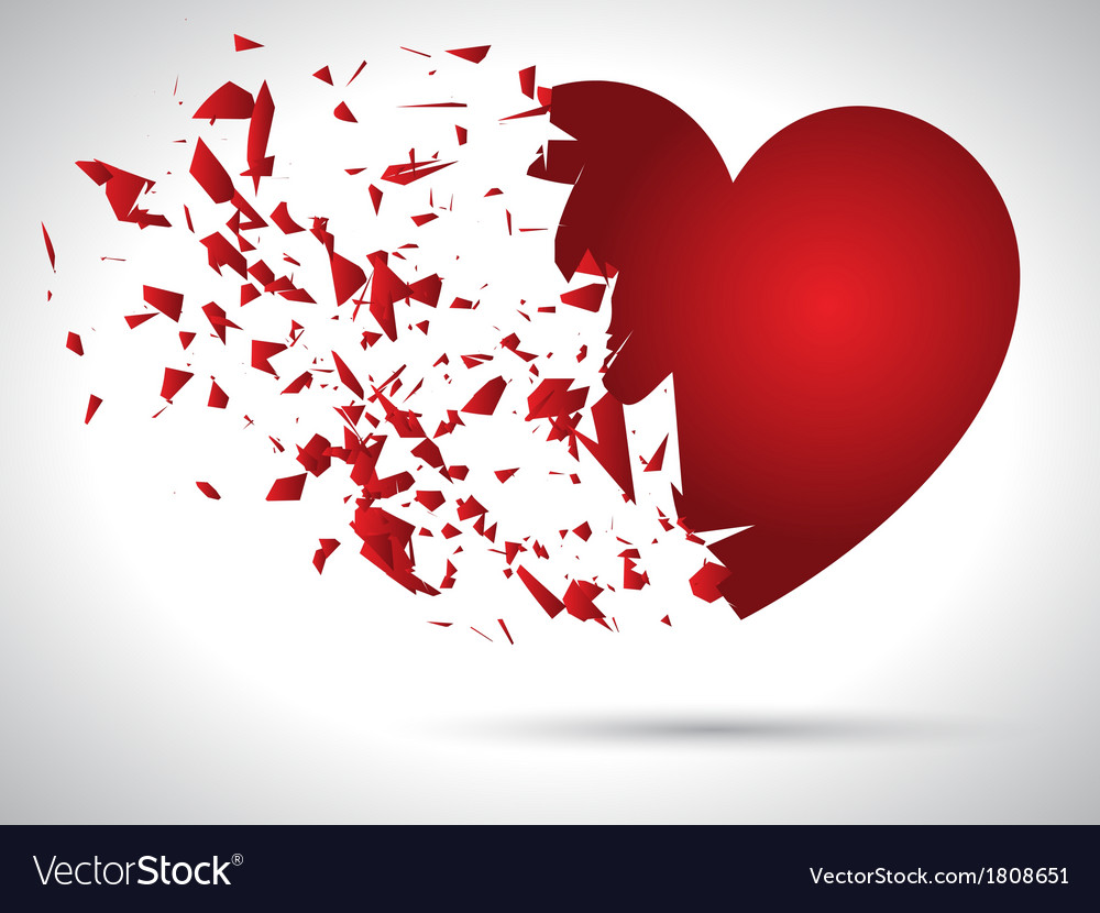 Exploding heart 0912 vector | Price: 1 Credit (USD $1)