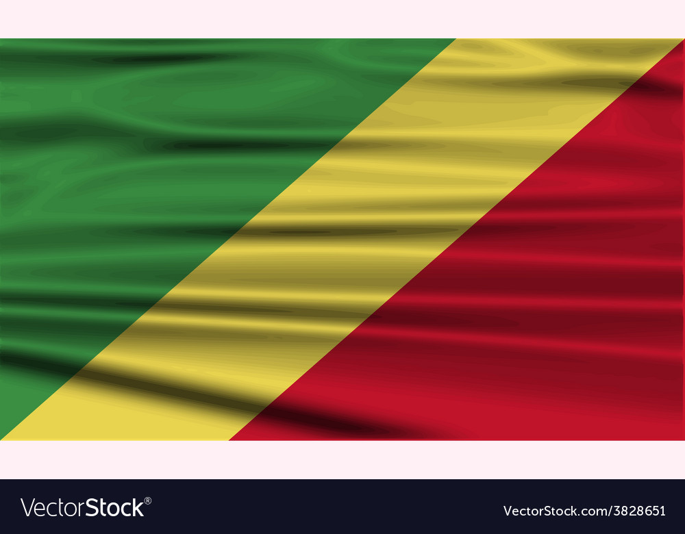 Flag of congo republic with old texture vector | Price: 1 Credit (USD $1)
