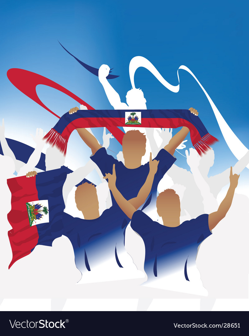 Haiti crowd vector | Price: 1 Credit (USD $1)