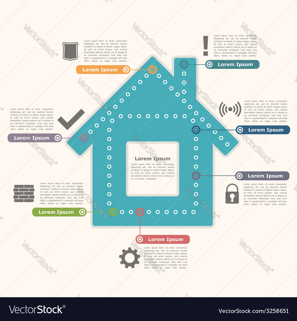 House infographics vector | Price: 1 Credit (USD $1)