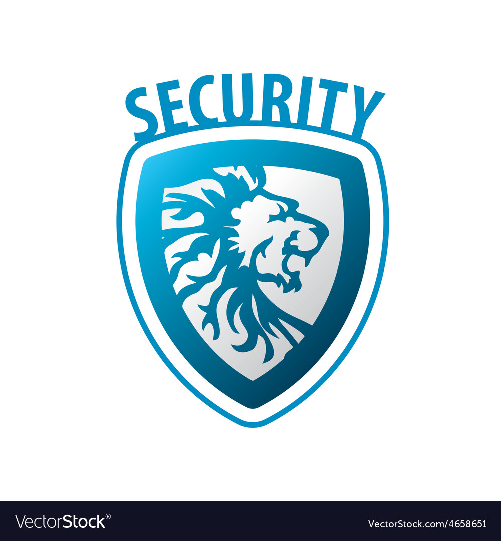 Logo shield in the form of a lion vector | Price: 1 Credit (USD $1)