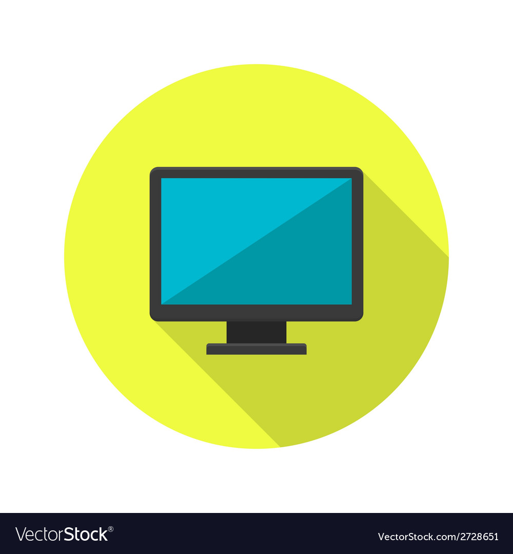 Pc display icon over green vector | Price: 1 Credit (USD $1)