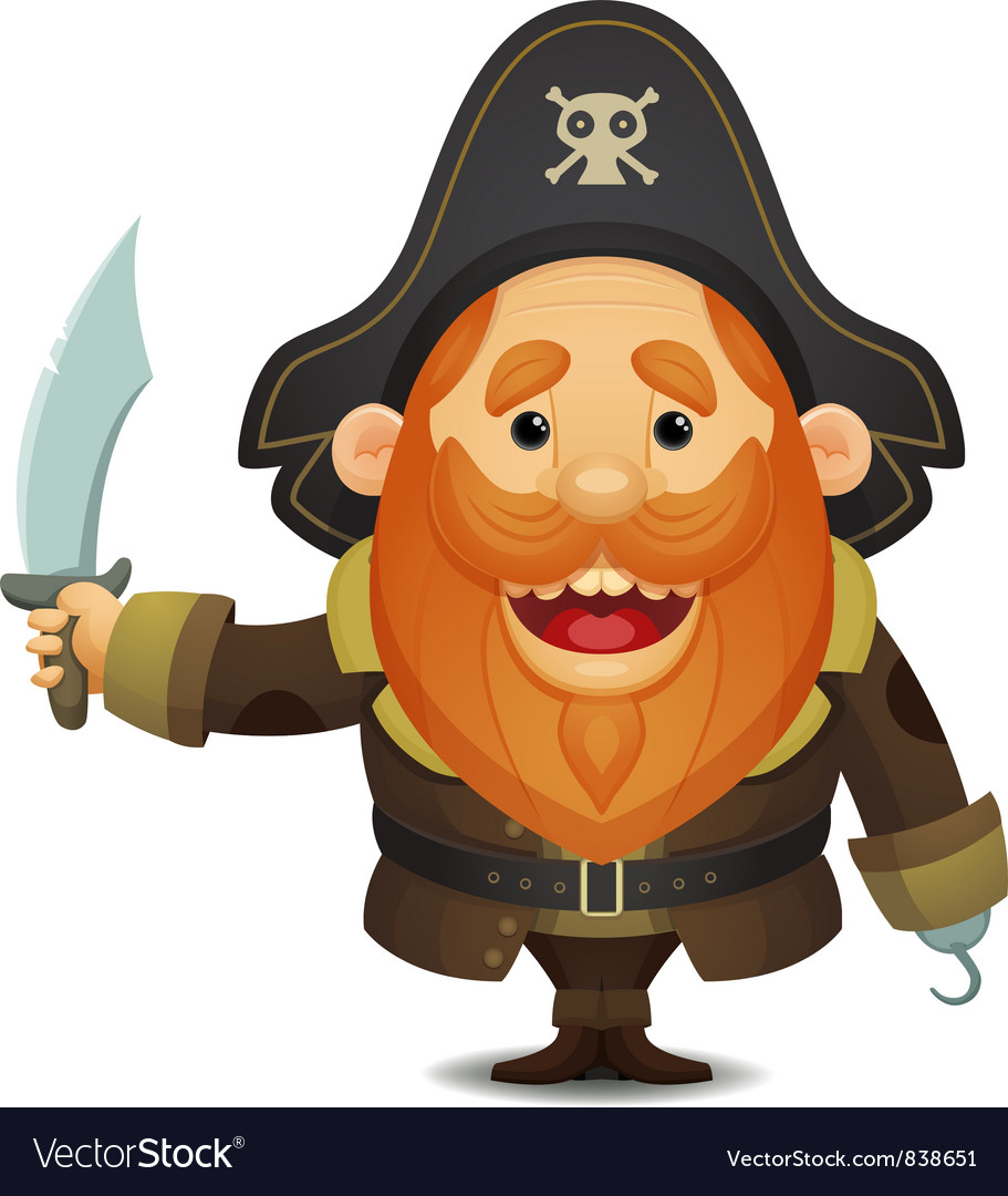 Pirate captain vector | Price: 3 Credit (USD $3)