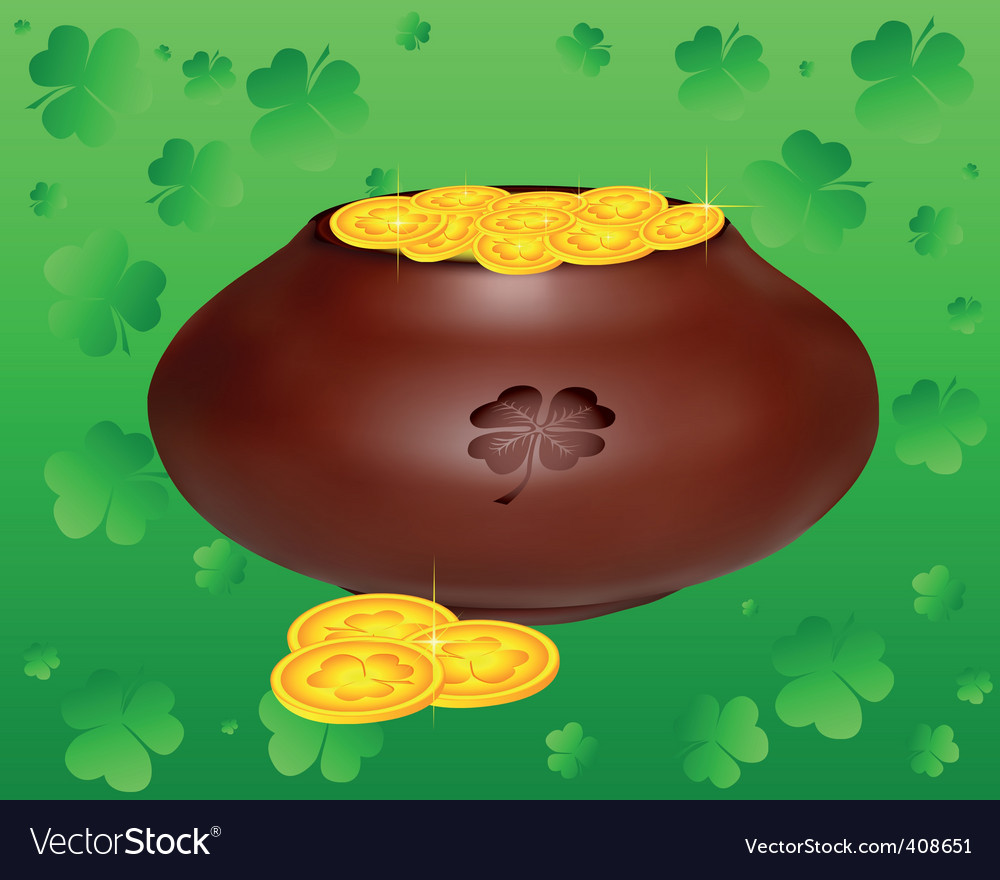 Pot of gold coins vector | Price: 1 Credit (USD $1)