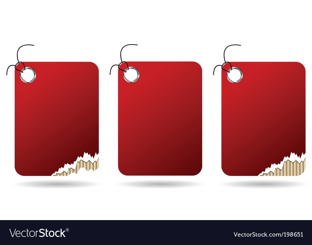 Ripped red tags vector | Price: 1 Credit (USD $1)
