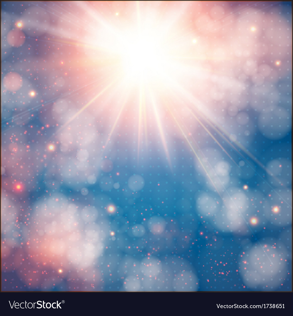 Shining sun with lens flare soft background with vector | Price: 1 Credit (USD $1)