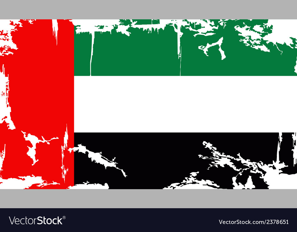 Uae grunge flag vector | Price: 1 Credit (USD $1)