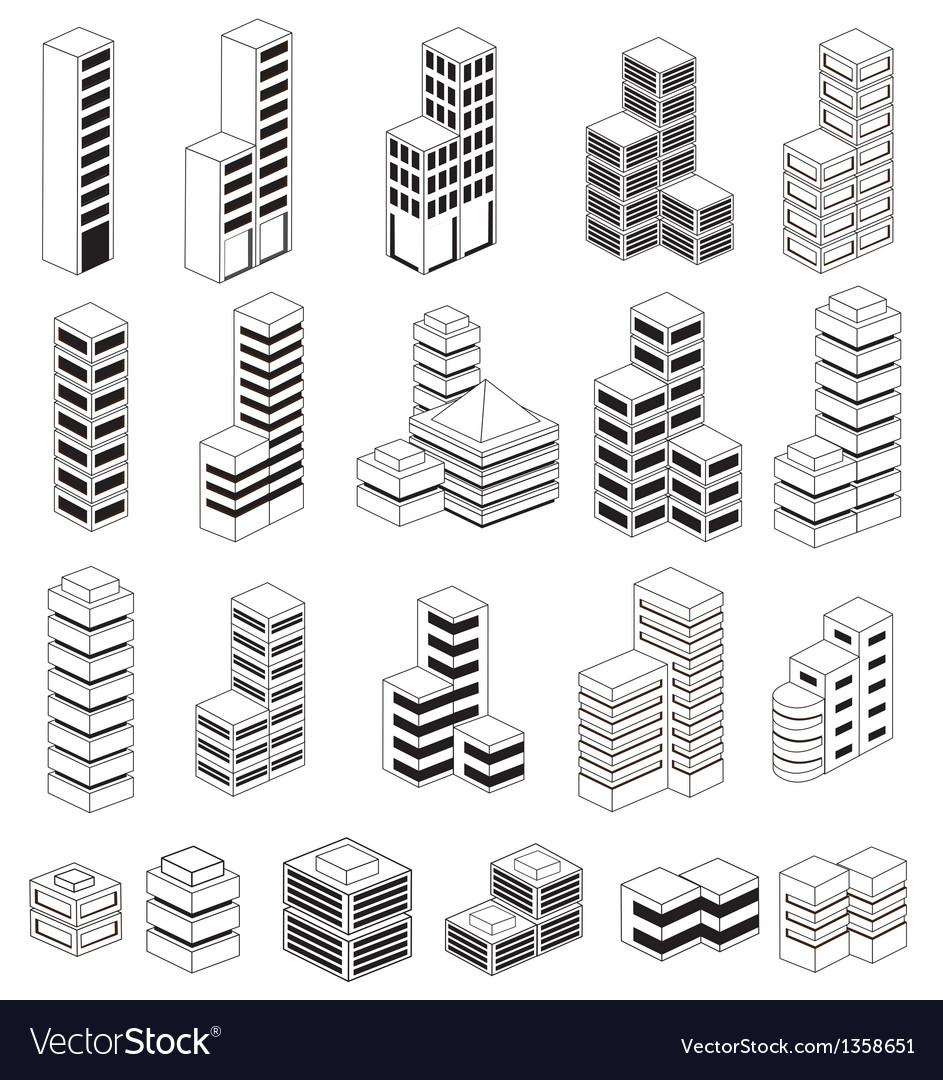Urban buildings vector | Price: 1 Credit (USD $1)