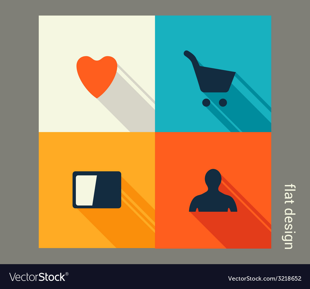 Business icon set management marketing e-commerce vector | Price: 1 Credit (USD $1)