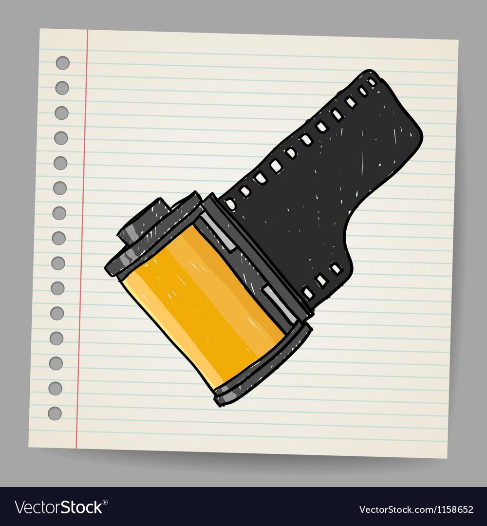 Camera film roll vector | Price: 1 Credit (USD $1)