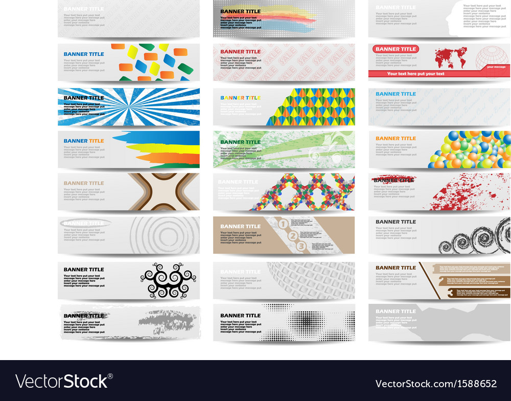 Colorful banner set of twenty-four set 4 vector | Price: 1 Credit (USD $1)