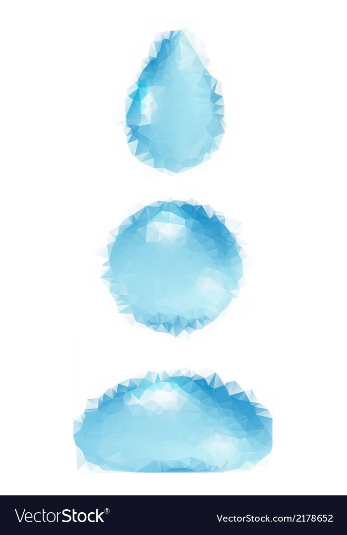 Polygonal water droplets vector | Price: 1 Credit (USD $1)