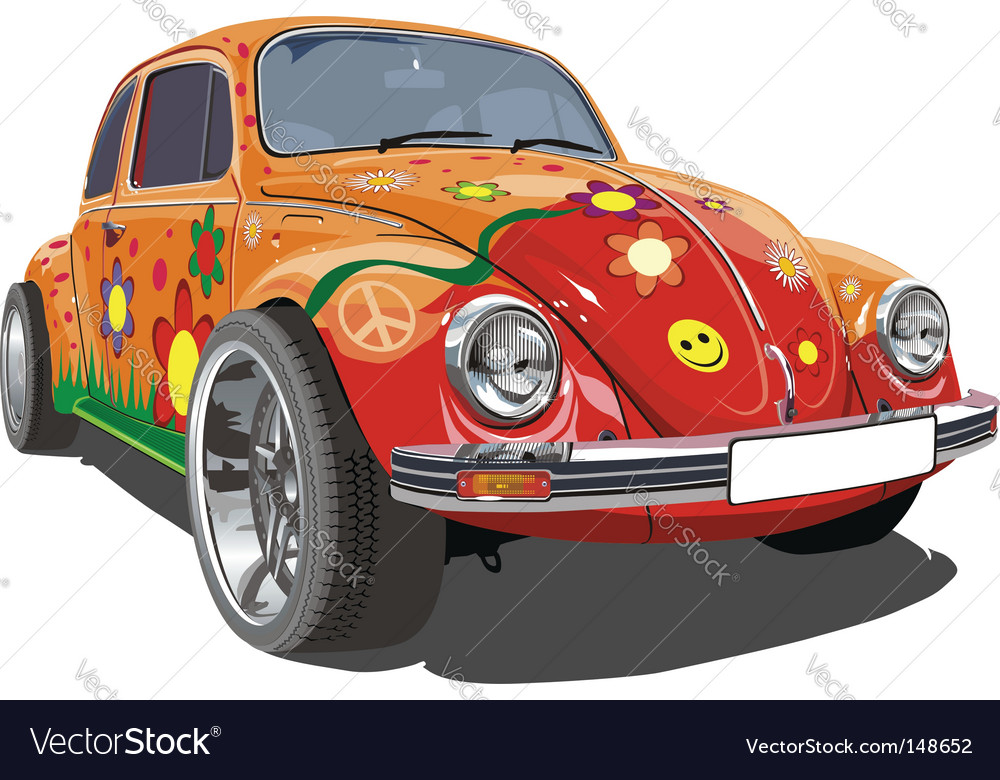 Retro cartoon car vector | Price: 5 Credit (USD $5)